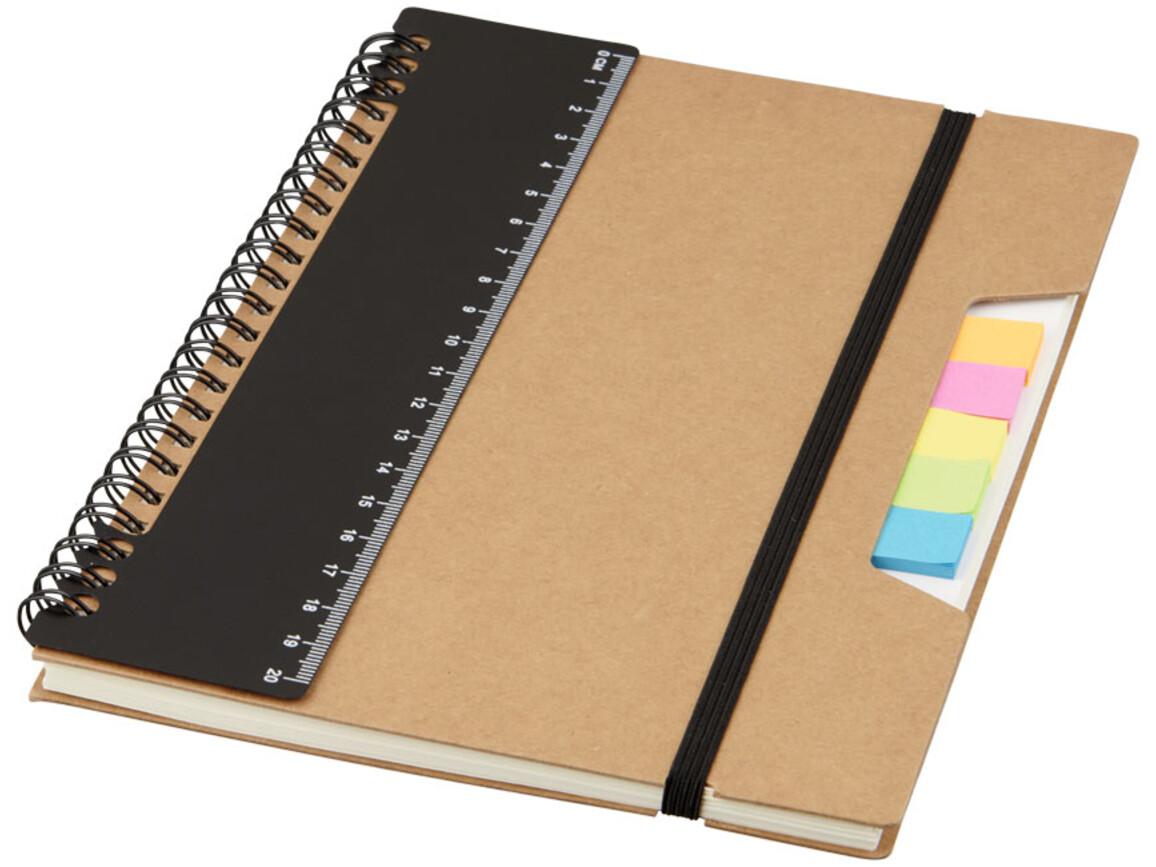 Josie A5 Recycling Notizbuch mit Spiralbindung, schwarz bedrucken, Art.-Nr. 10722200