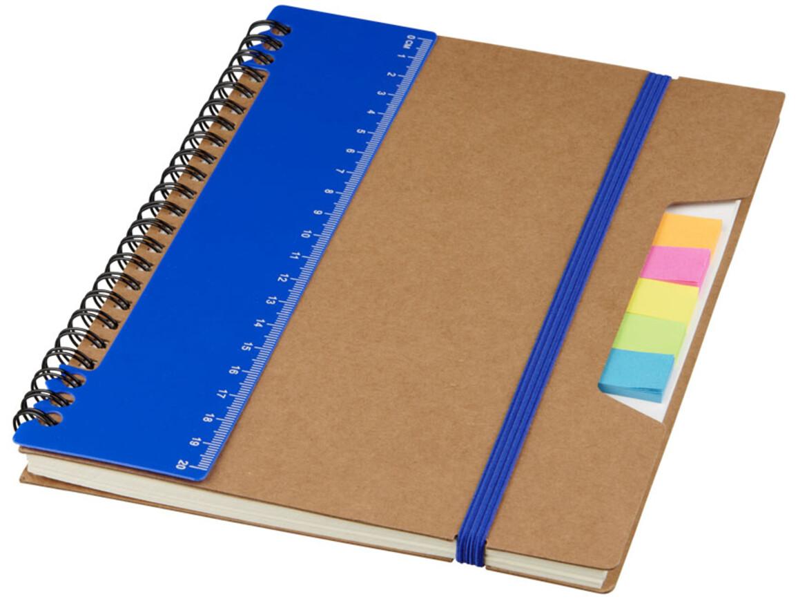 Josie A5 Recycling Notizbuch mit Spiralbindung, blau bedrucken, Art.-Nr. 10722201