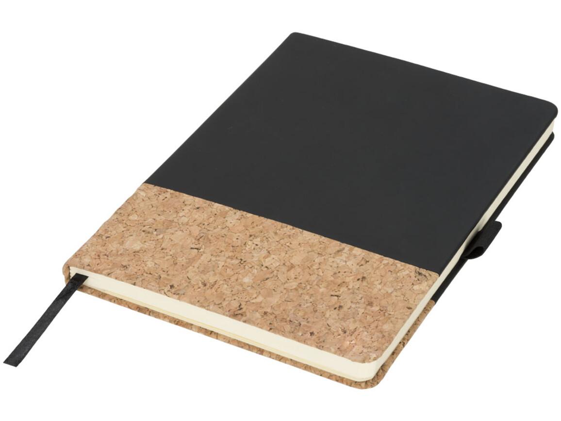 Evora A5 Notizbuch Thermo PU mit Kork, schwarz bedrucken, Art.-Nr. 10732000