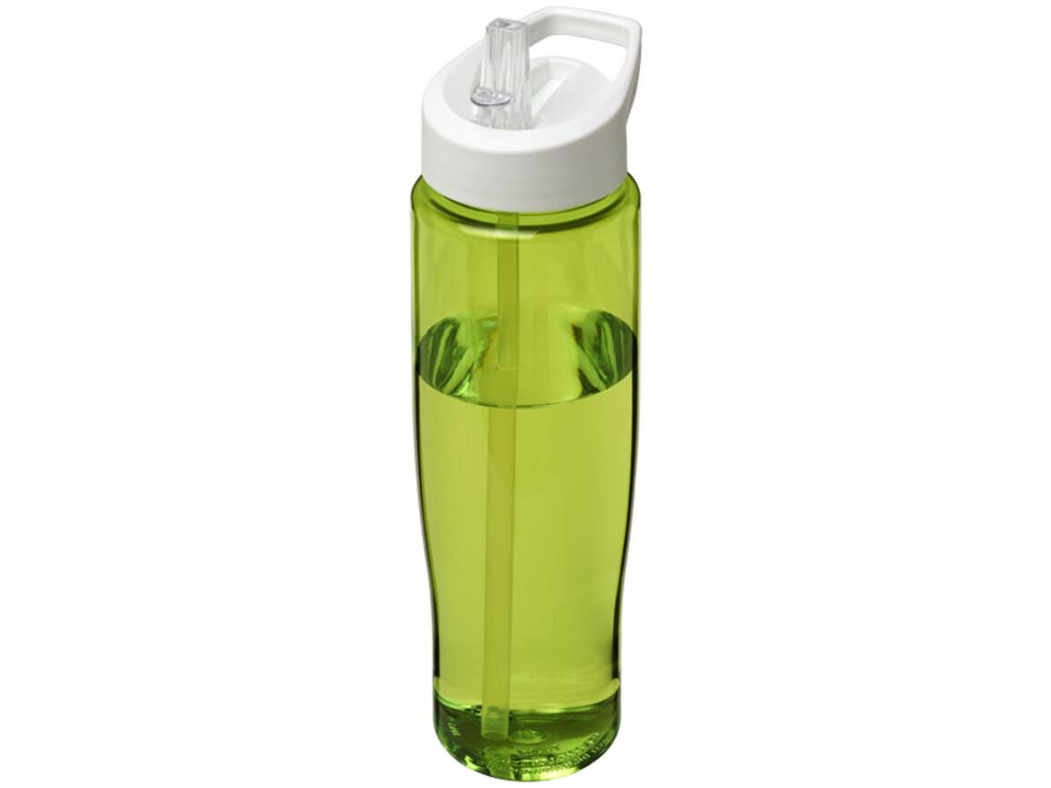 H2O Tempo® 700 ml Sportflasche mit Ausgussdeckel, limone, weiss bedrucken, Art.-Nr. 21004412