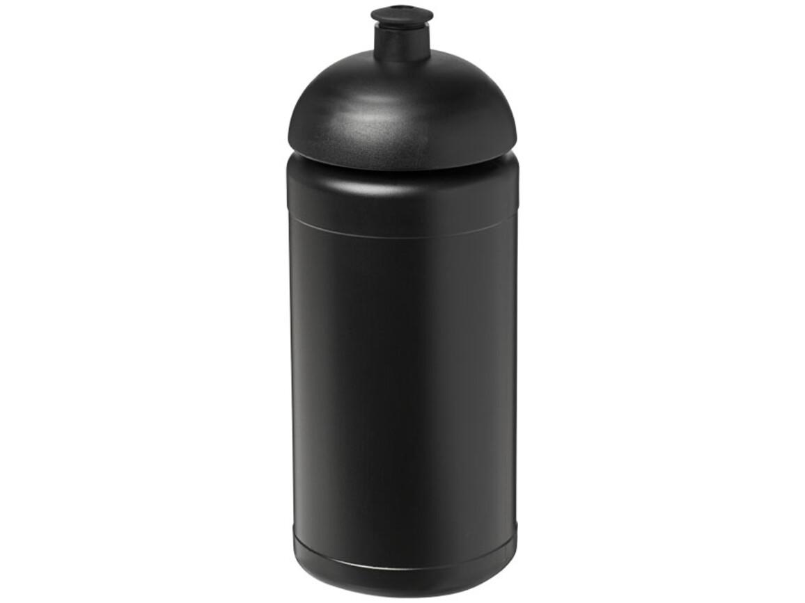 Baseline® Plus 500 ml Sportflasche mit Stülpdeckel, schwarz bedrucken, Art.-Nr. 21006911