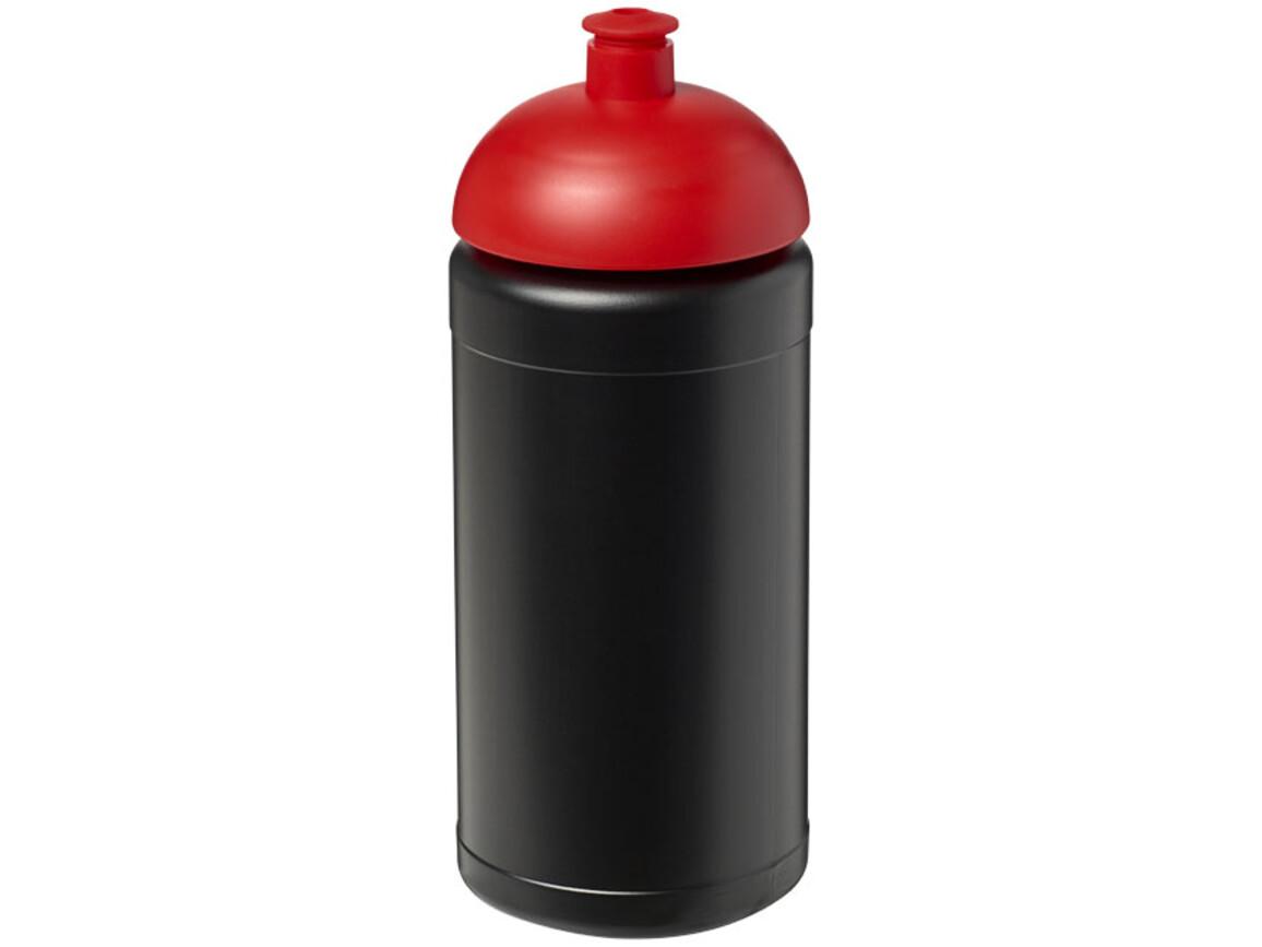 Baseline® Plus 500 ml Sportflasche mit Stülpdeckel, schwarz, rot bedrucken, Art.-Nr. 21006914