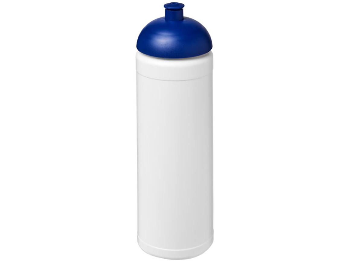 Baseline® Plus 750 ml Sportflasche mit Stülpdeckel, weiss, blau bedrucken, Art.-Nr. 21007102