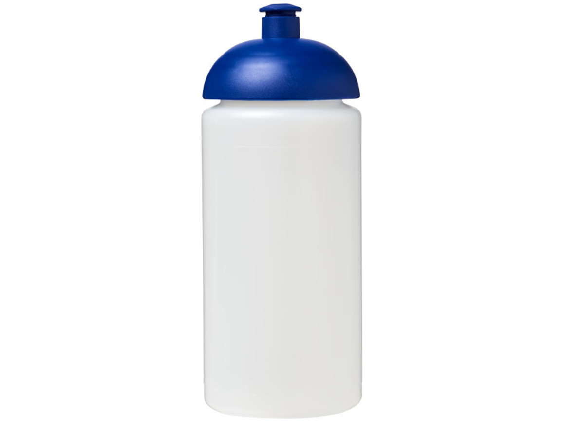 Baseline® Plus grip 500 ml Sportflasche mit Stülpdeckel, transparent, blau bedrucken, Art.-Nr. 21007317