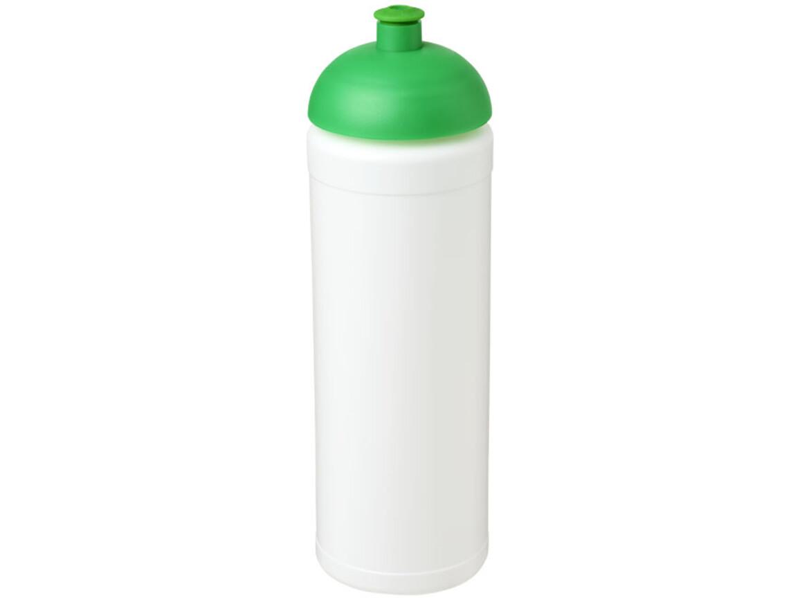 Baseline® Plus grip 750 ml Sportflasche mit Stülpdeckel, weiss, grün bedrucken, Art.-Nr. 21007506