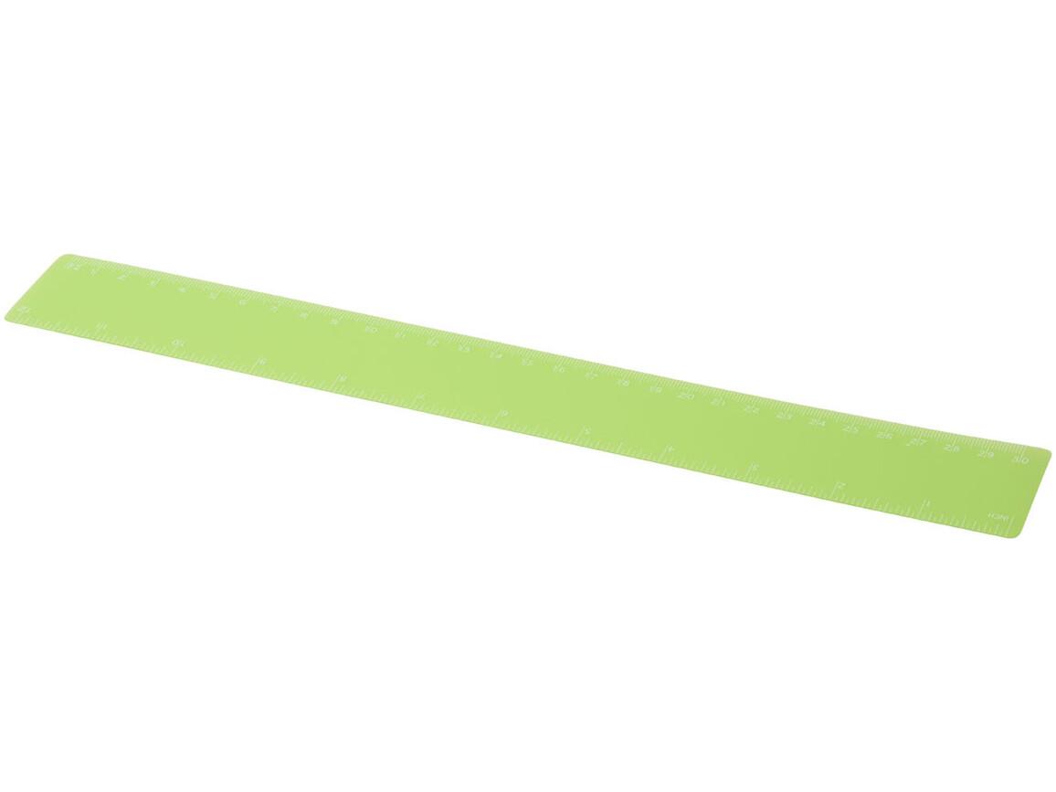 Rothko 30 cm Kunststofflineal, grün mattiert bedrucken, Art.-Nr. 21053909