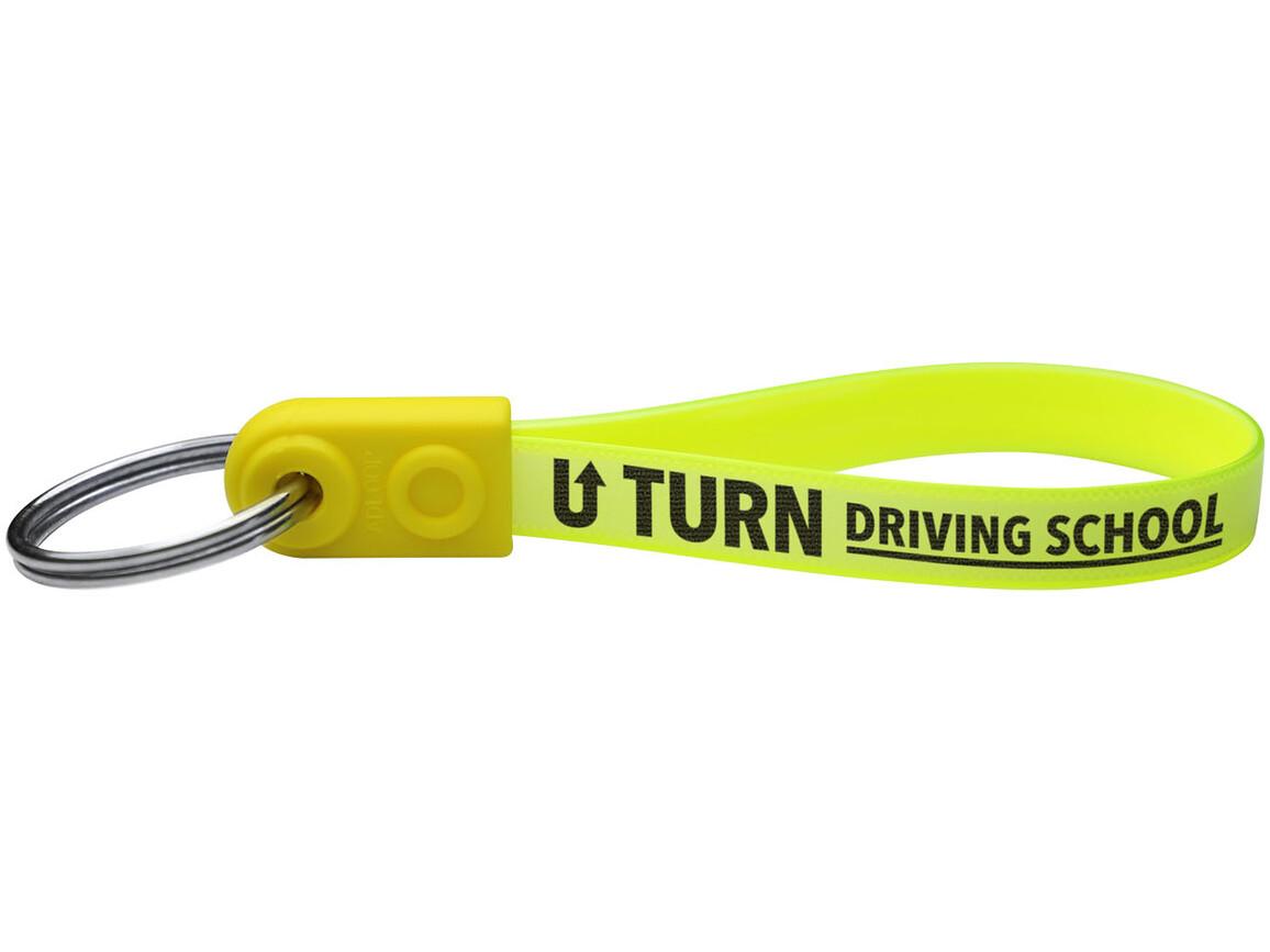 Ad-Loop® Standard Schlüsselanhänger, gelb bedrucken, Art.-Nr. 21277204