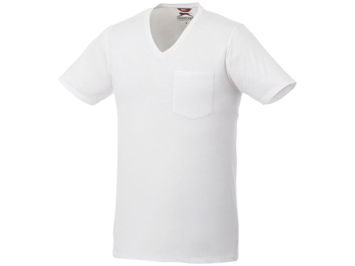 Gully T-Shirt mit Tasche für Herren, weiss bedrucken, Art.-Nr. 33023013