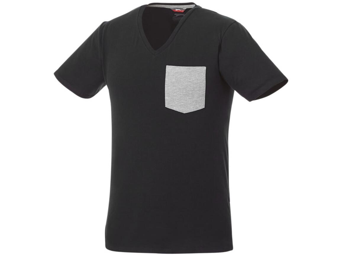 Gully T-Shirt mit Tasche für Herren, schwarz, sportgrau bedrucken, Art.-Nr. 33023990
