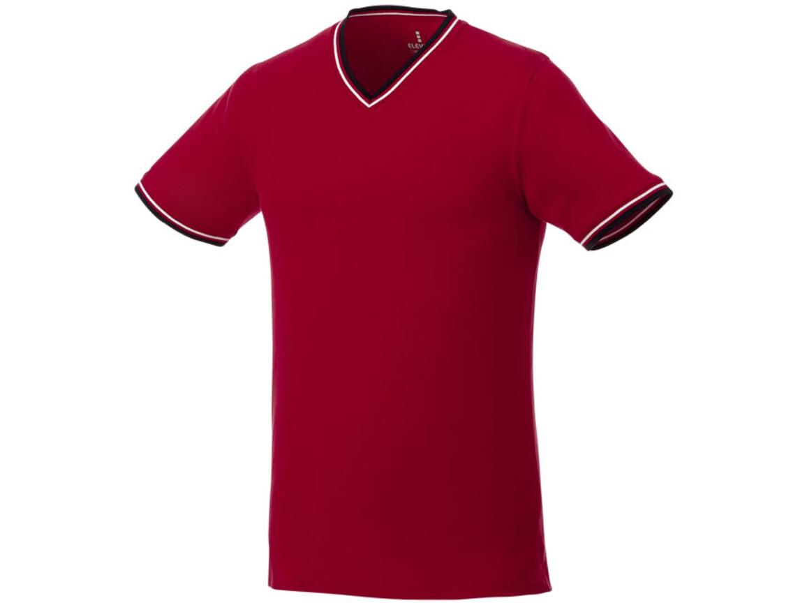 Elbert Piqué T-Shirt für Herren, rot, navy, weiss bedrucken, Art.-Nr. 38026256