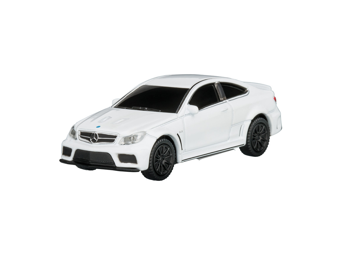 USB-Speicherstick Mercedes Benz C63 AMG 1:72 WHITE 16GB bedrucken, Art.-Nr. WEL92938-WE-16GB