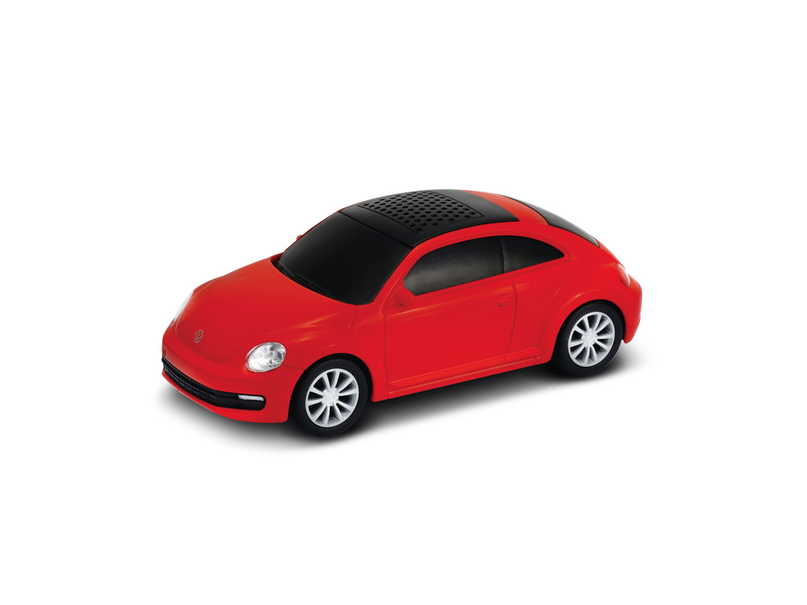 Lautsprecher mit Bluetooth® Technologie VW Beetle 1:36 RED bedrucken, Art.-Nr. WEL94001BT-RD
