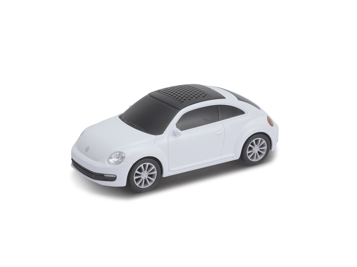 Lautsprecher mit Bluetooth® Technologie VW Beetle 1:36 WHITE bedrucken, Art.-Nr. WEL94001BT-WE
