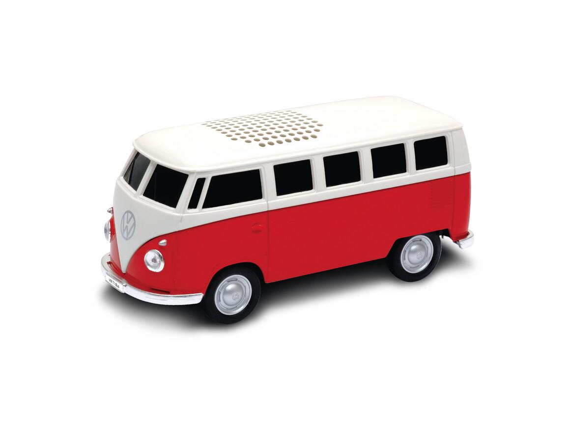 Lautsprecher mit Bluetooth® Technologie VW Bus T1 1:36 RED bedrucken, Art.-Nr. WEL94002BT-RD