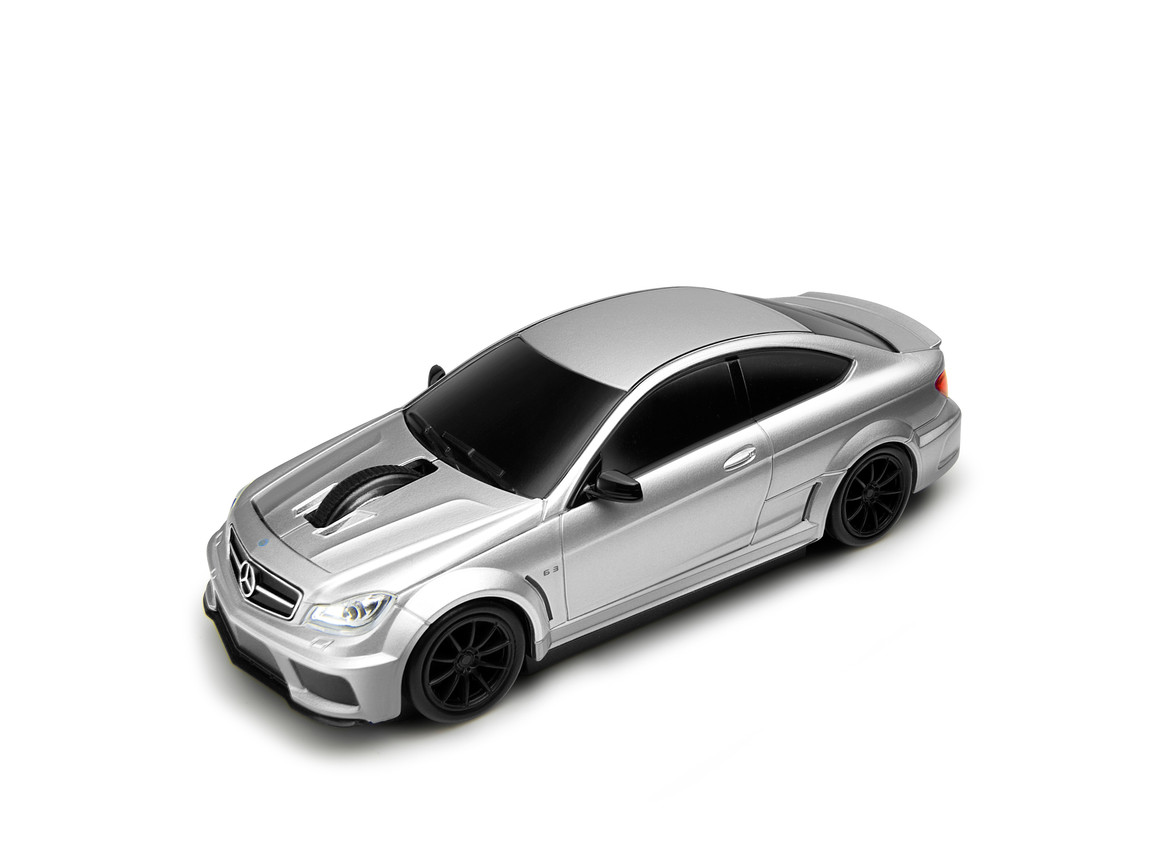 Computermaus Mercedes Benz C63 AMG 1:32 SILVER bedrucken, Art.-Nr. WEL95905-SR