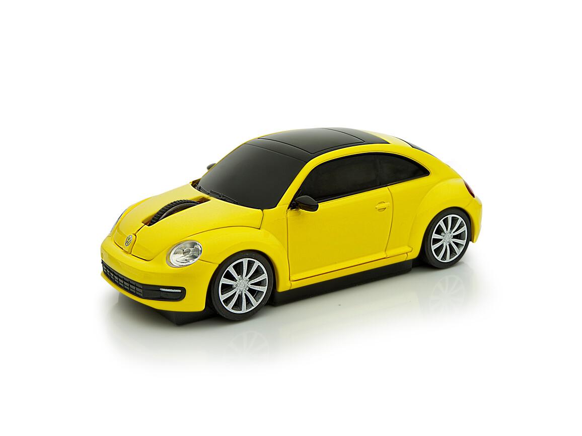 Computermaus VW Beetle 1:32 YELLOW bedrucken, Art.-Nr. WEL95911-YW