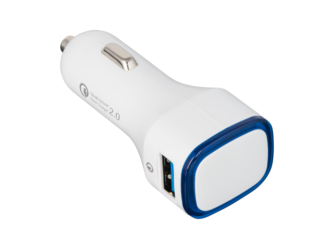 USB Autoladeadapter QuickCharge 2.0® REFLECTS-COLLECTION 500 bedrucken, Art.-Nr. _S_80501-WE-BE