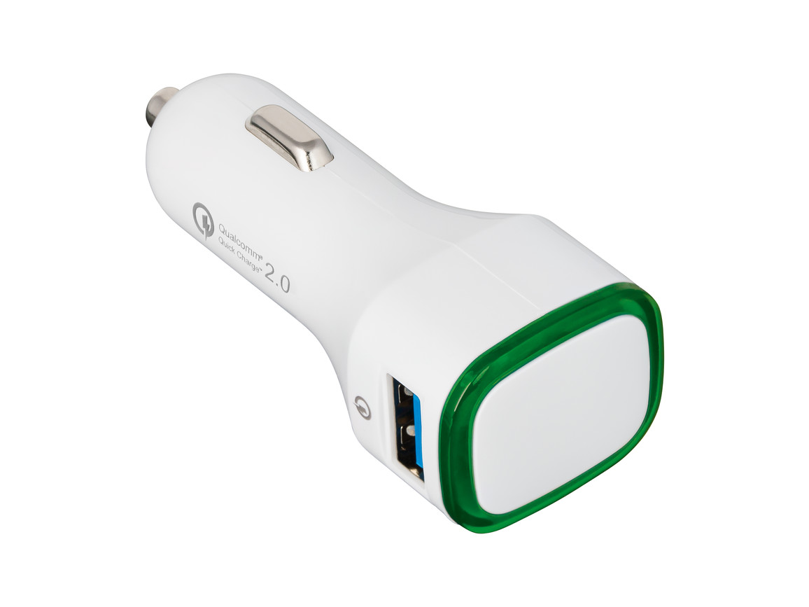 USB Autoladeadapter QuickCharge 2.0® REFLECTS-COLLECTION 500 bedrucken, Art.-Nr. _S_80501-WE-GN