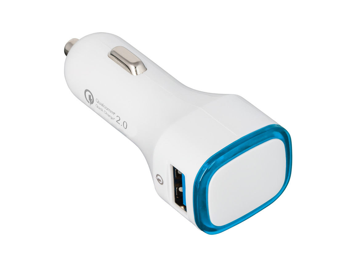 USB Autoladeadapter QuickCharge 2.0® REFLECTS-COLLECTION 500 bedrucken, Art.-Nr. _S_80501-WE-LBE