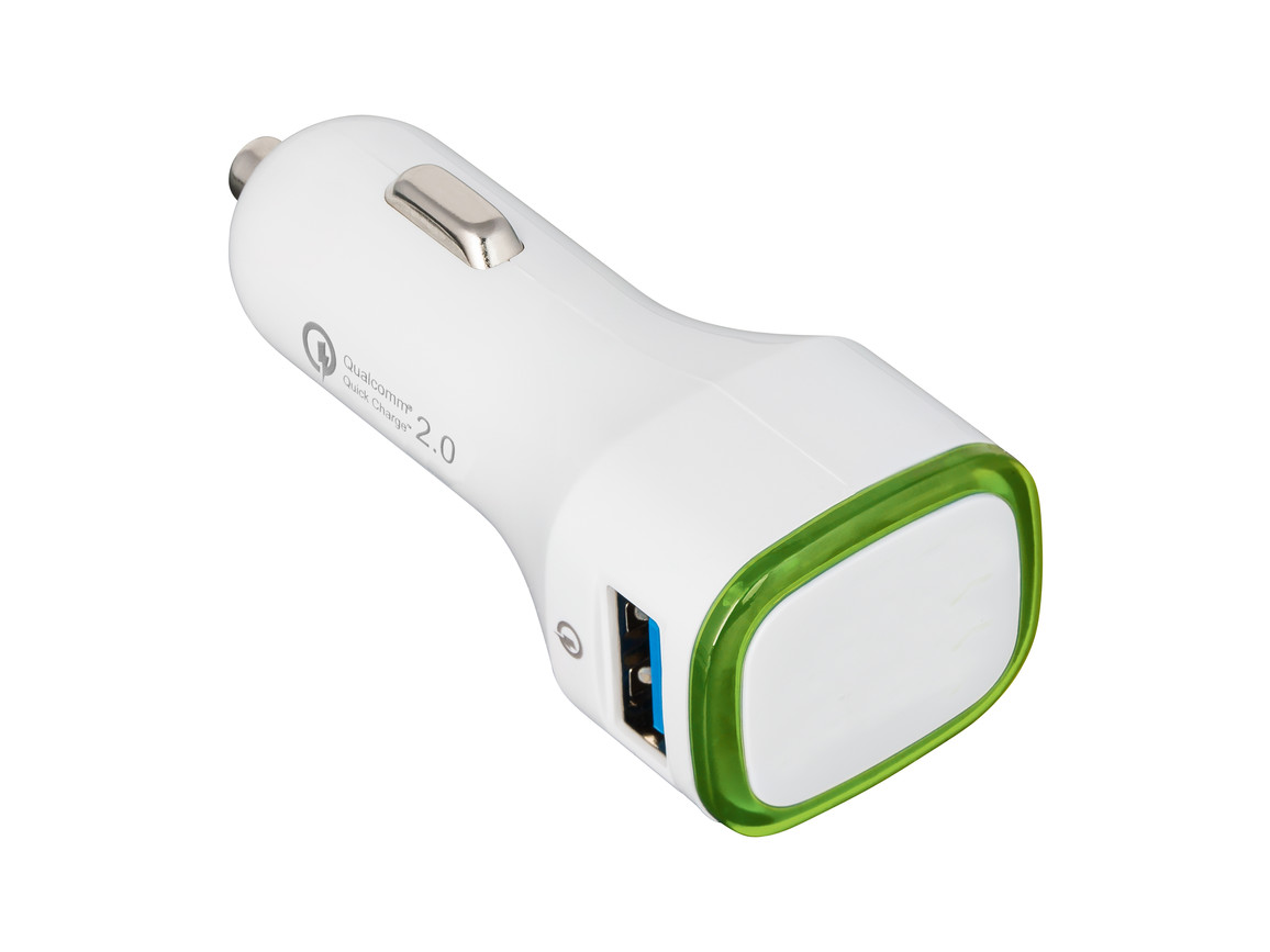 USB Autoladeadapter QuickCharge 2.0® REFLECTS-COLLECTION 500 bedrucken, Art.-Nr. _S_80501-WE-LGN