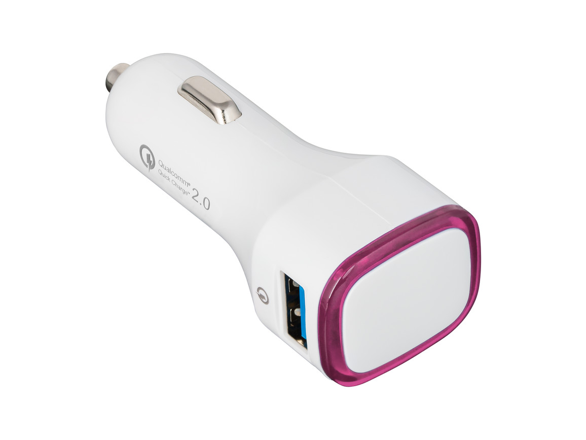 USB Autoladeadapter QuickCharge 2.0® REFLECTS-COLLECTION 500 bedrucken, Art.-Nr. _S_80501-WE-MG