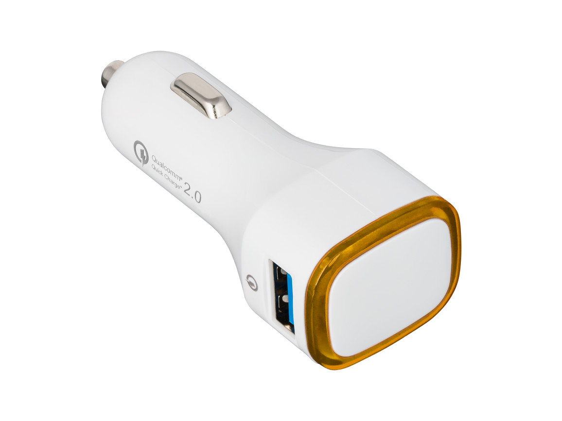 USB Autoladeadapter QuickCharge 2.0® REFLECTS-COLLECTION 500 bedrucken, Art.-Nr. _S_80501-WE-OE