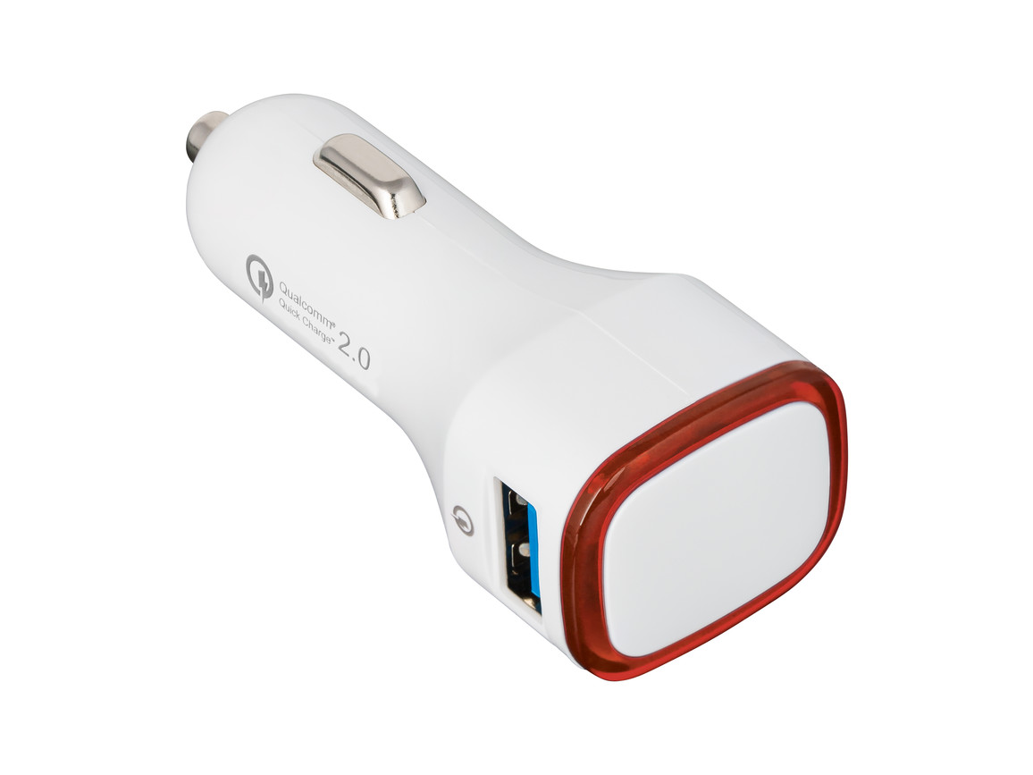 USB Autoladeadapter QuickCharge 2.0® REFLECTS-COLLECTION 500 bedrucken, Art.-Nr. _S_80501-WE-RD