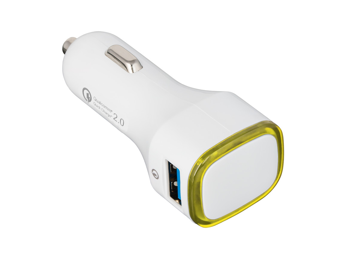 USB Autoladeadapter QuickCharge 2.0® REFLECTS-COLLECTION 500 bedrucken, Art.-Nr. _S_80501-WE-YW