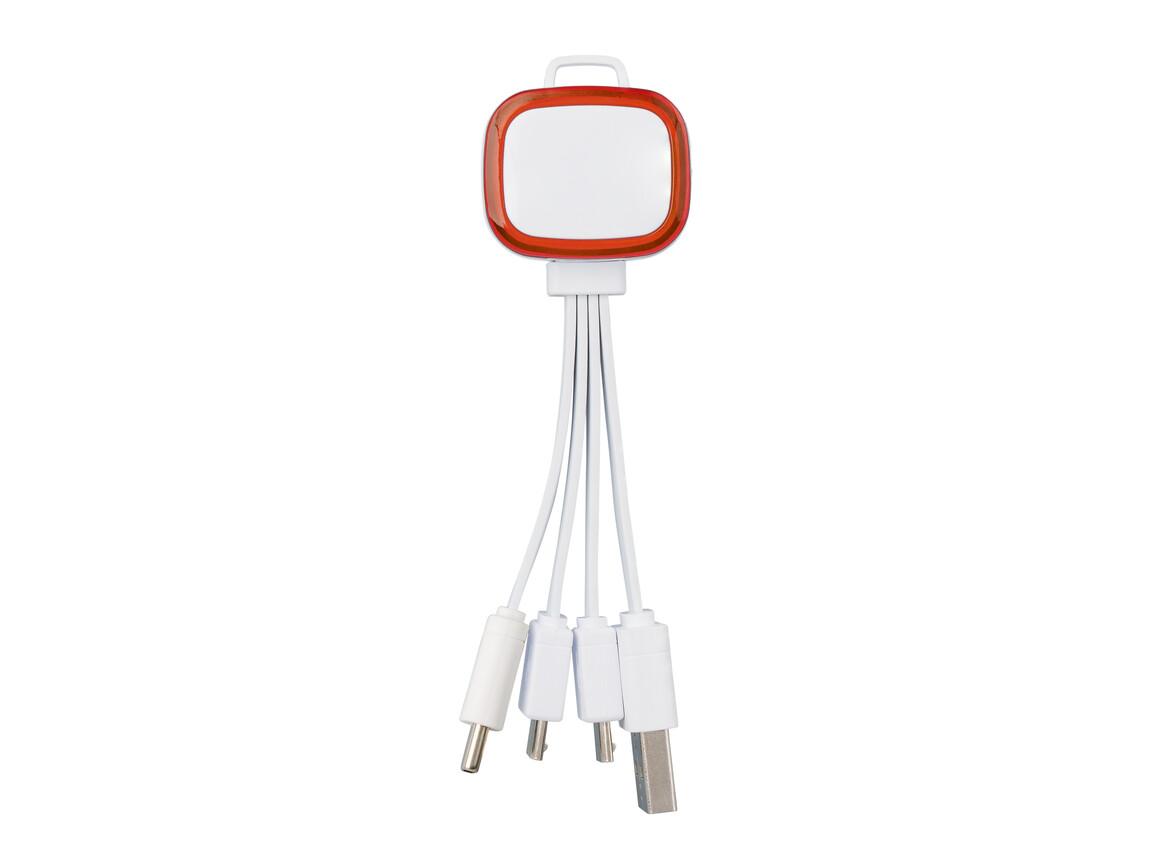 Multi-USB-Ladekabel REFLECTS-COLLECTION 500 bedrucken, Art.-Nr. _S_80502-WE-RD