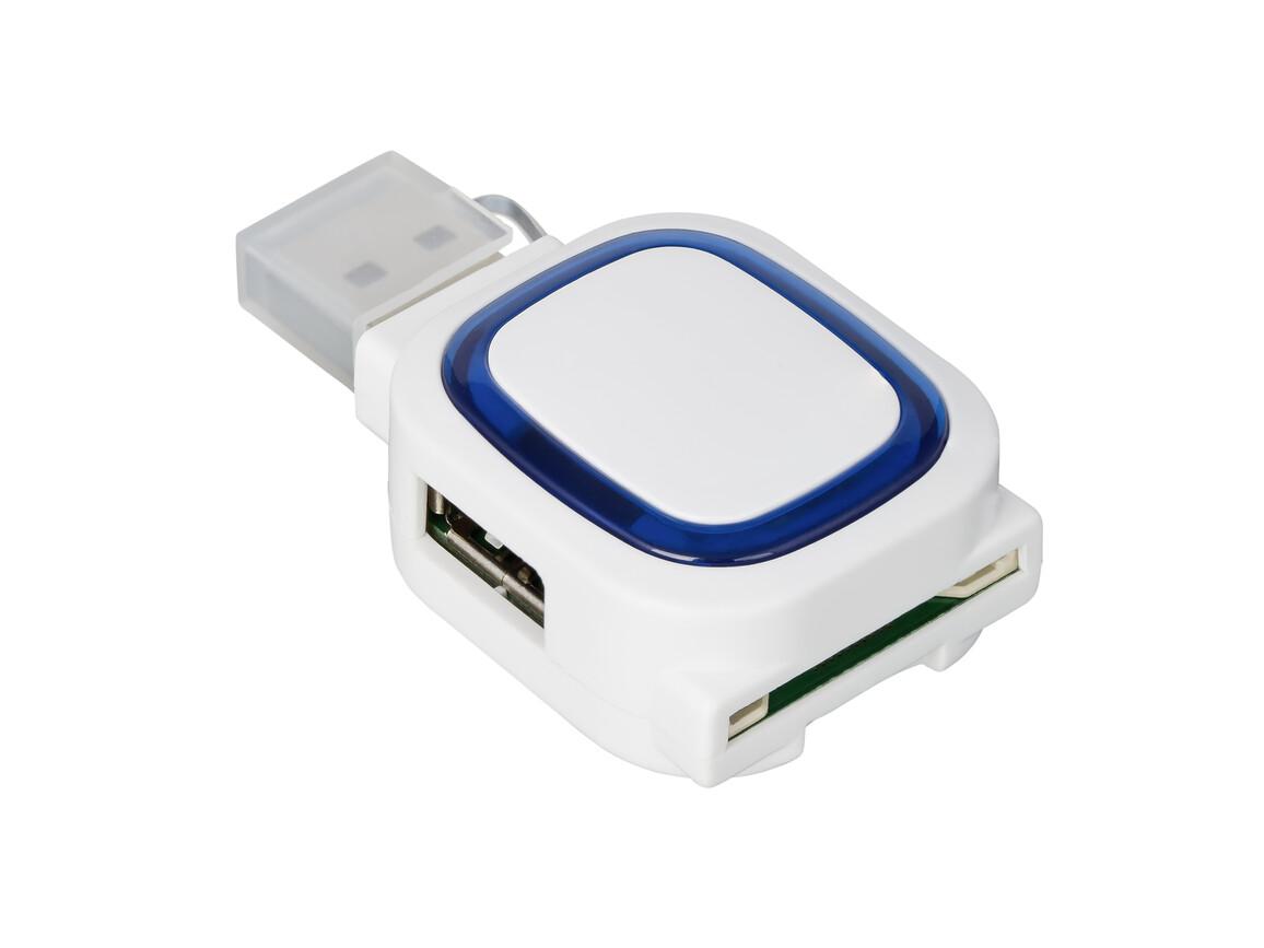 USB-Hub mit 2 Anschlüssen und Speicherkartenlesegerät REFLECTS-COLLECTION 500 bedrucken, Art.-Nr. _S_80505-WE-BE