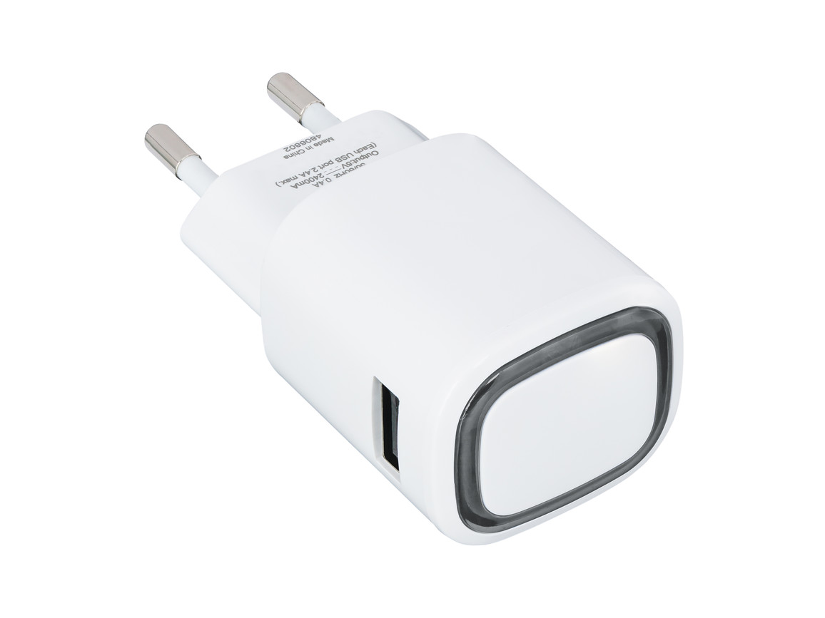 USB-Ladeadapter REFLECTS-COLLECTION 500 bedrucken, Art.-Nr. _S_80518-WE-BK