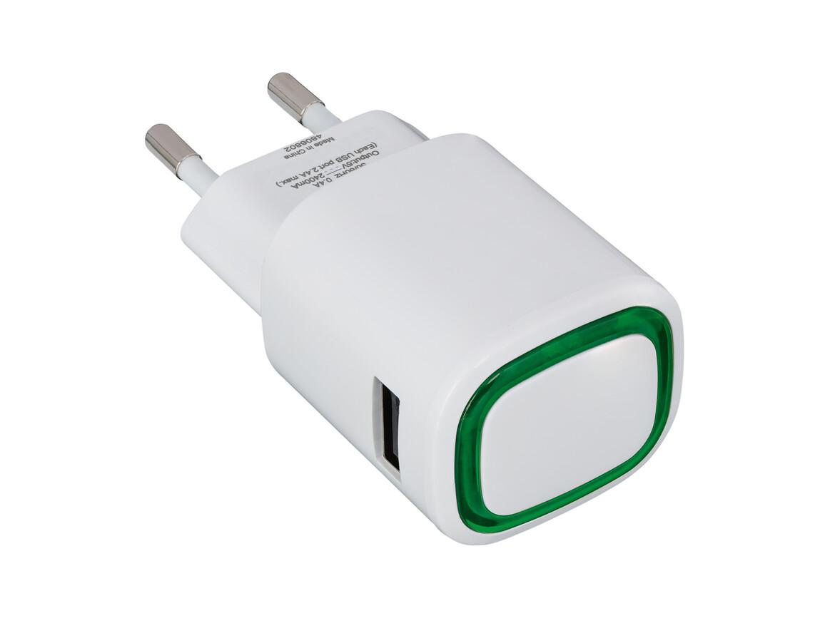 USB-Ladeadapter REFLECTS-COLLECTION 500 bedrucken, Art.-Nr. _S_80518-WE-GN