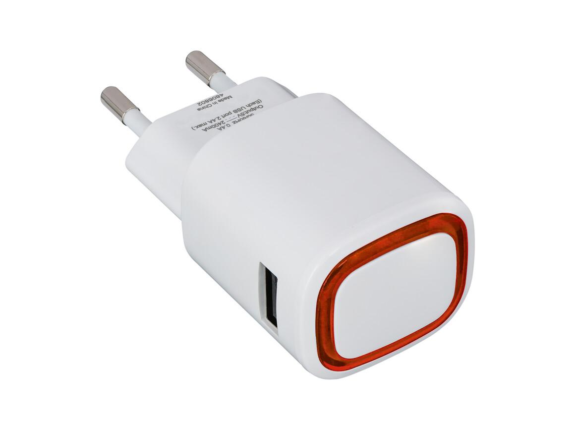 USB-Ladeadapter REFLECTS-COLLECTION 500 bedrucken, Art.-Nr. _S_80518-WE-RD
