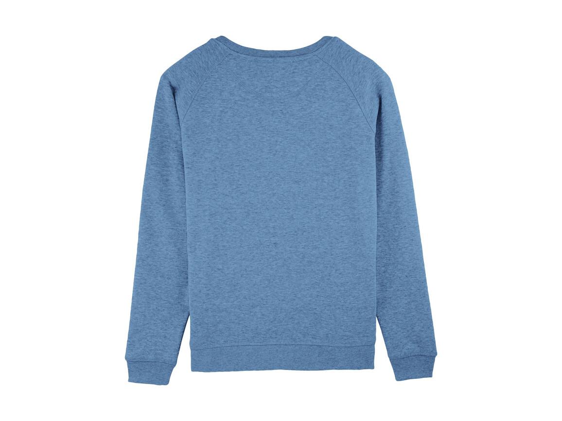 Raglan-Sweatshirt mit Rundhalsausschnitt - Mid Heather Blue - M bedrucken, Art.-Nr. STSW049C6531M