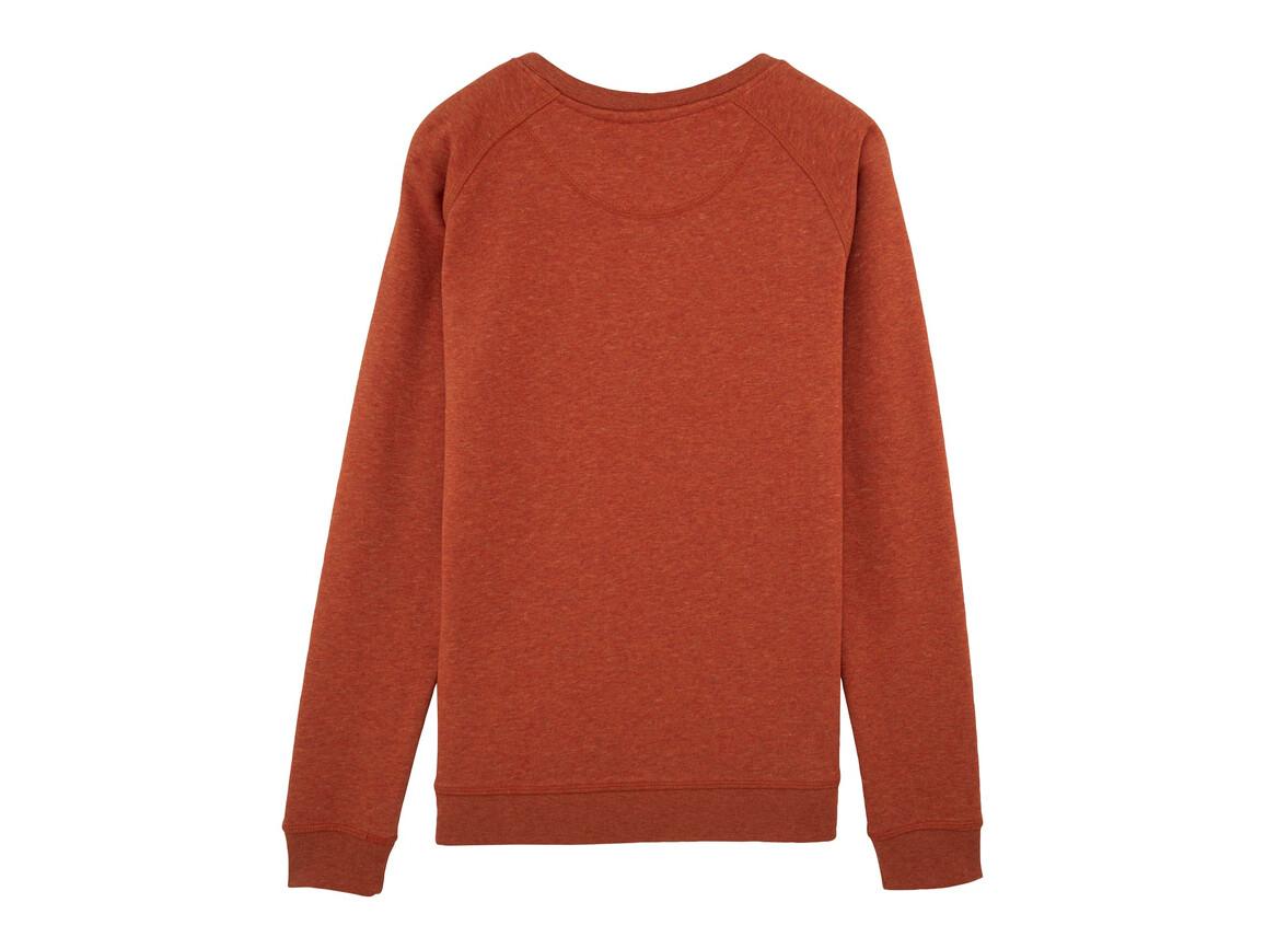 Raglan-Sweatshirt mit Rundhalsausschnitt - Heather Brick Orange - S bedrucken, Art.-Nr. STSW049C6651S