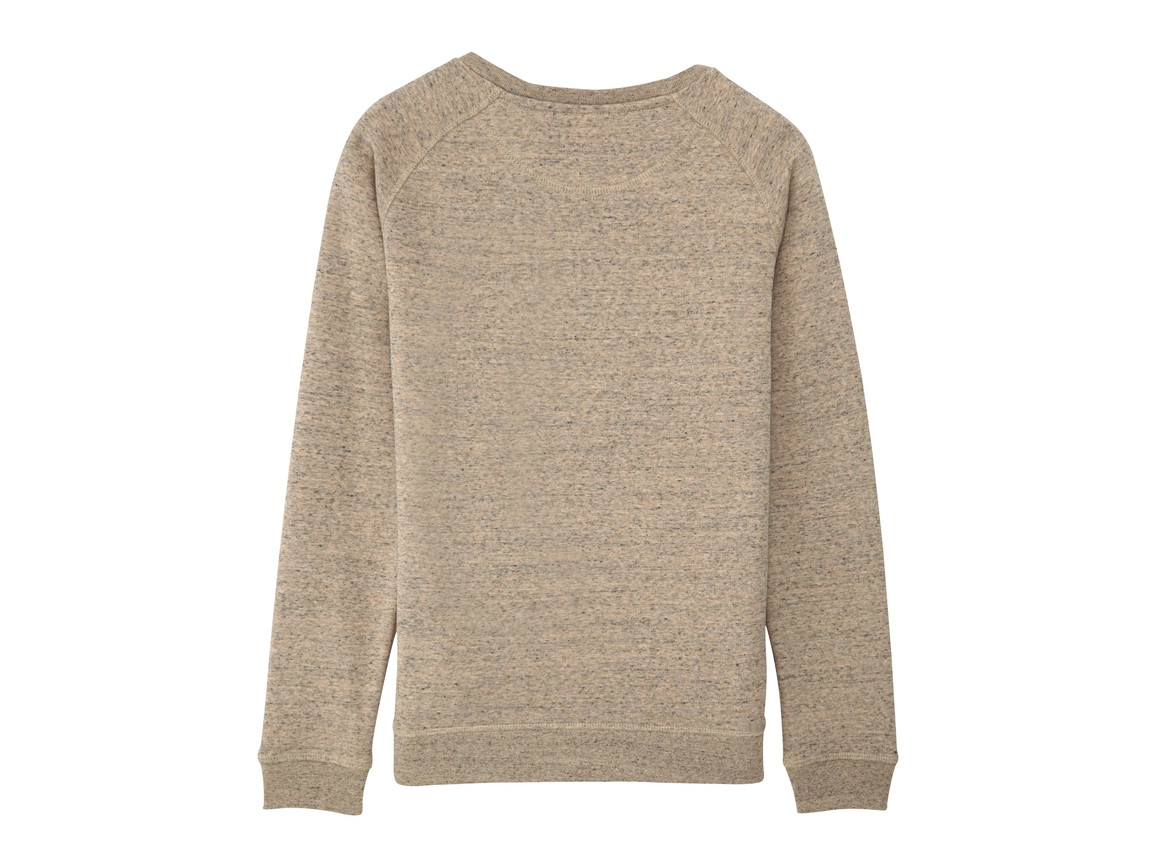 Raglan-Sweatshirt mit Rundhalsausschnitt - Slub Mid Heather Clay - S bedrucken, Art.-Nr. STSW049C6771S