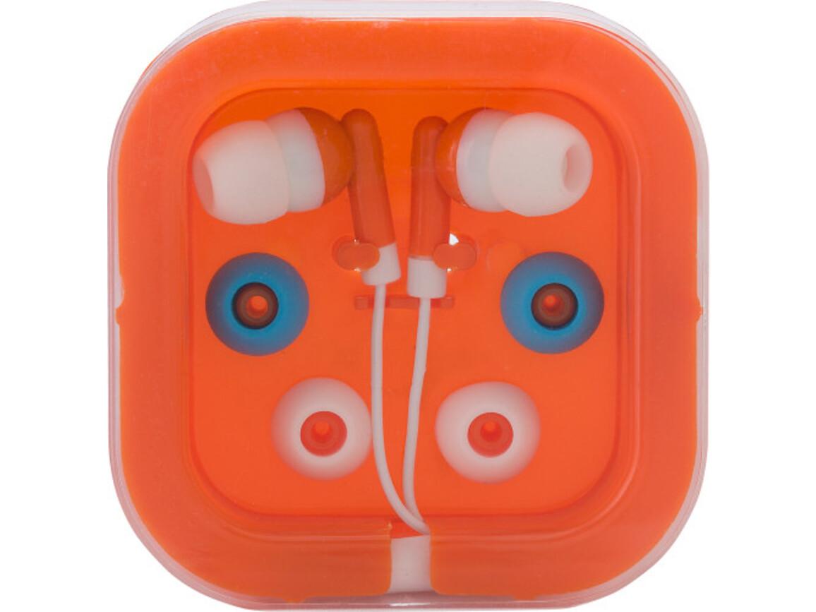 Kopfhörer 'Universal' aus Kunststoff/Metall – Orange bedrucken, Art.-Nr. 007999999_2289