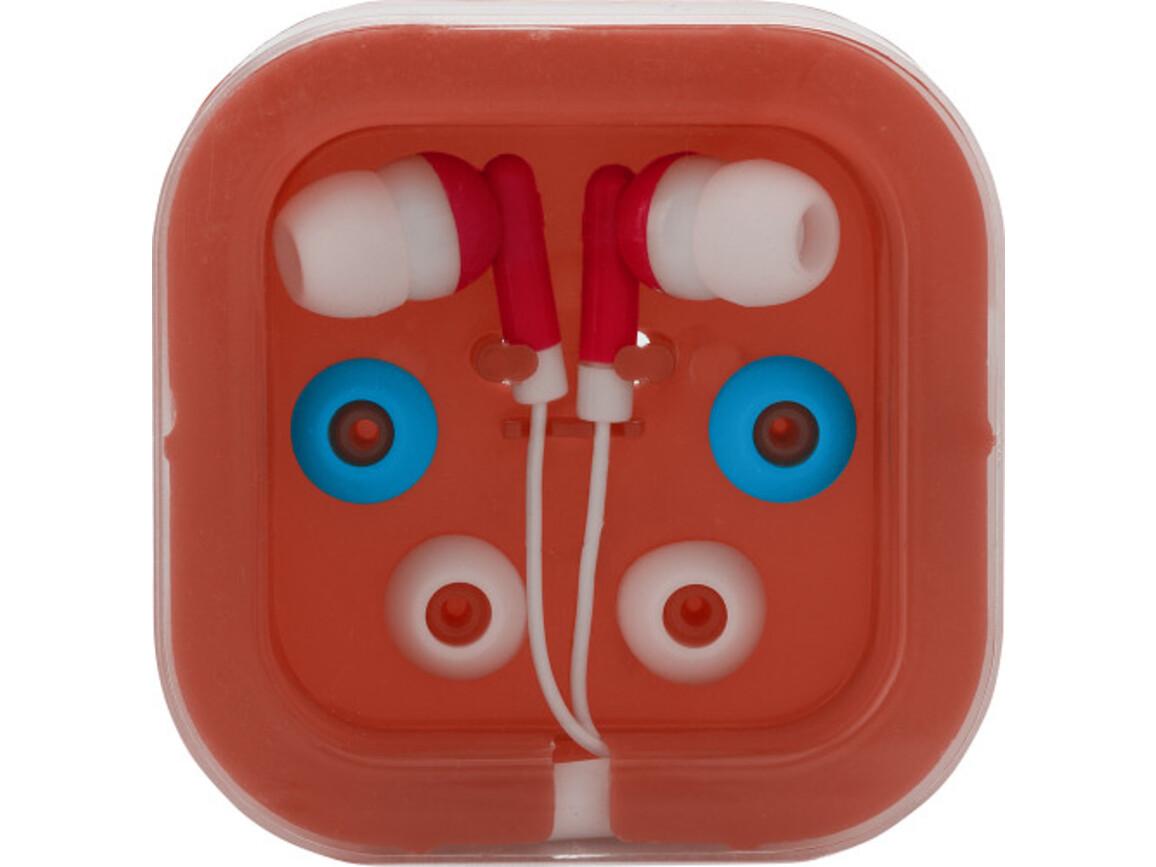 Kopfhörer 'Universal' aus Kunststoff/Metall – Rot bedrucken, Art.-Nr. 008999999_2289