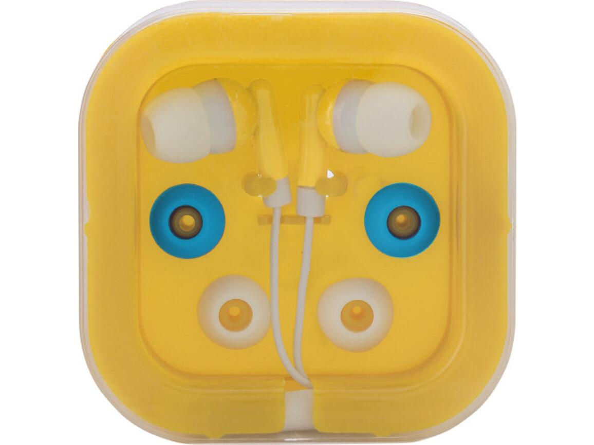 Kopfhörer 'Universal' aus Kunststoff/Metall – Gelb bedrucken, Art.-Nr. 006999999_2289