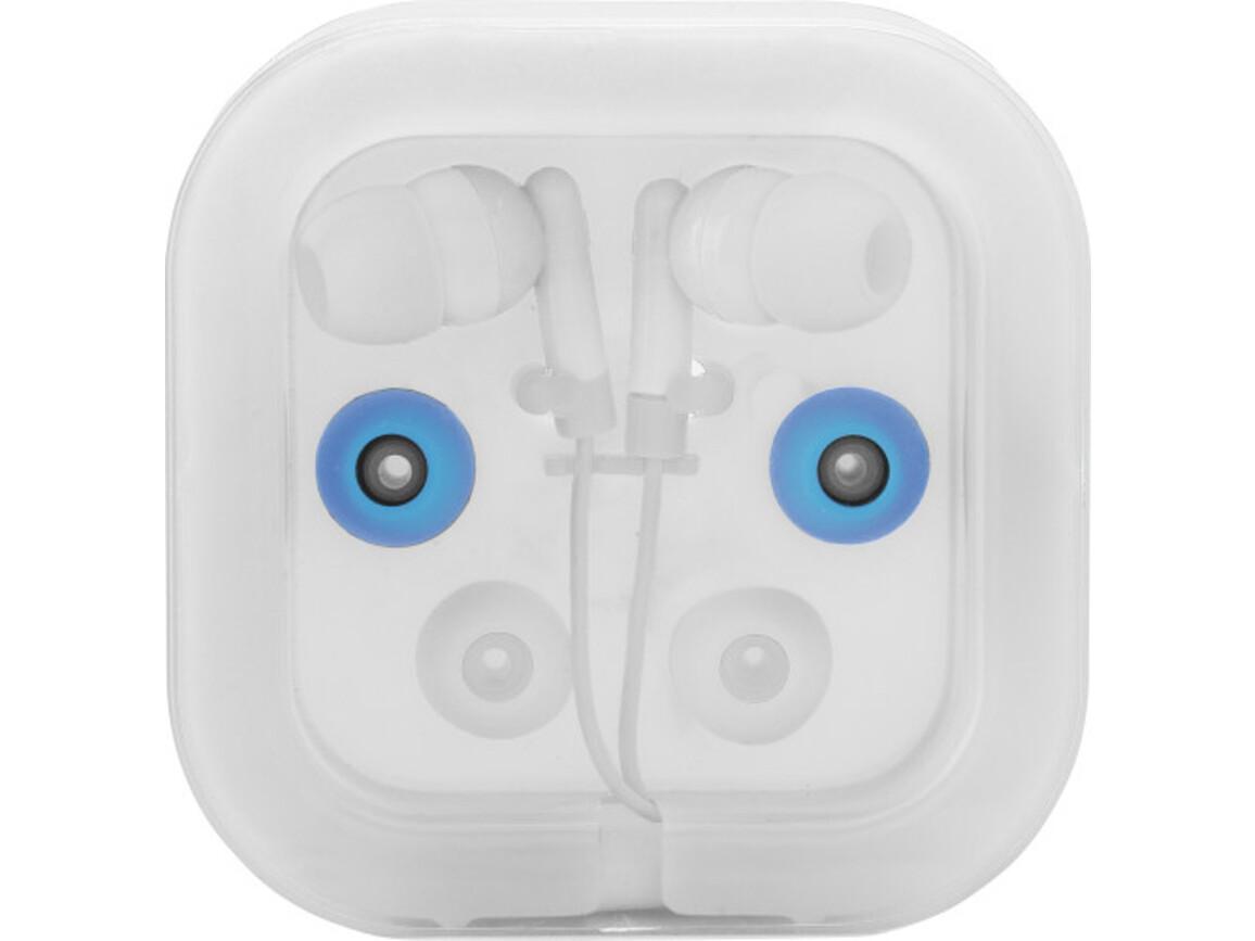 Kopfhörer 'Universal' aus Kunststoff/Metall – Weiß bedrucken, Art.-Nr. 002999999_2289
