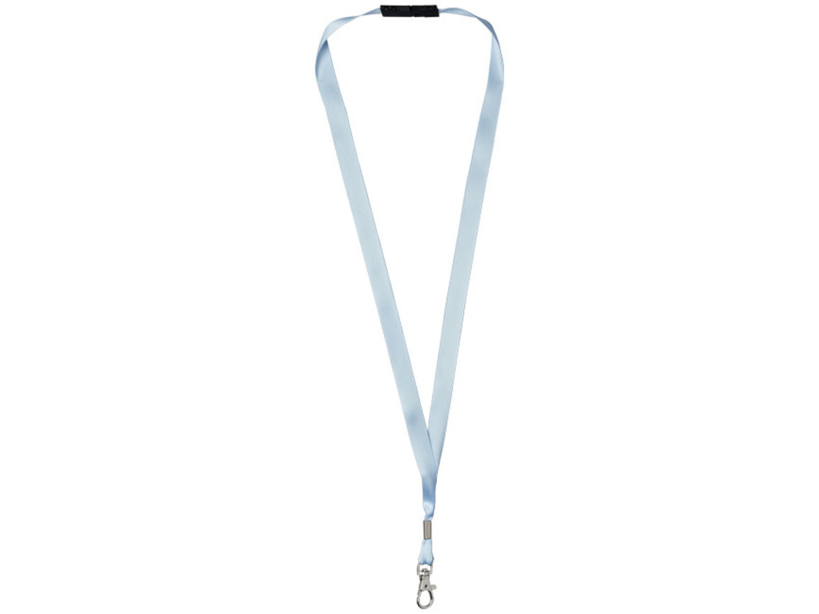 Oro Ribbon Lanyard mit Sicherheitsverschluss, eisblau bedrucken, Art.-Nr. 21060414