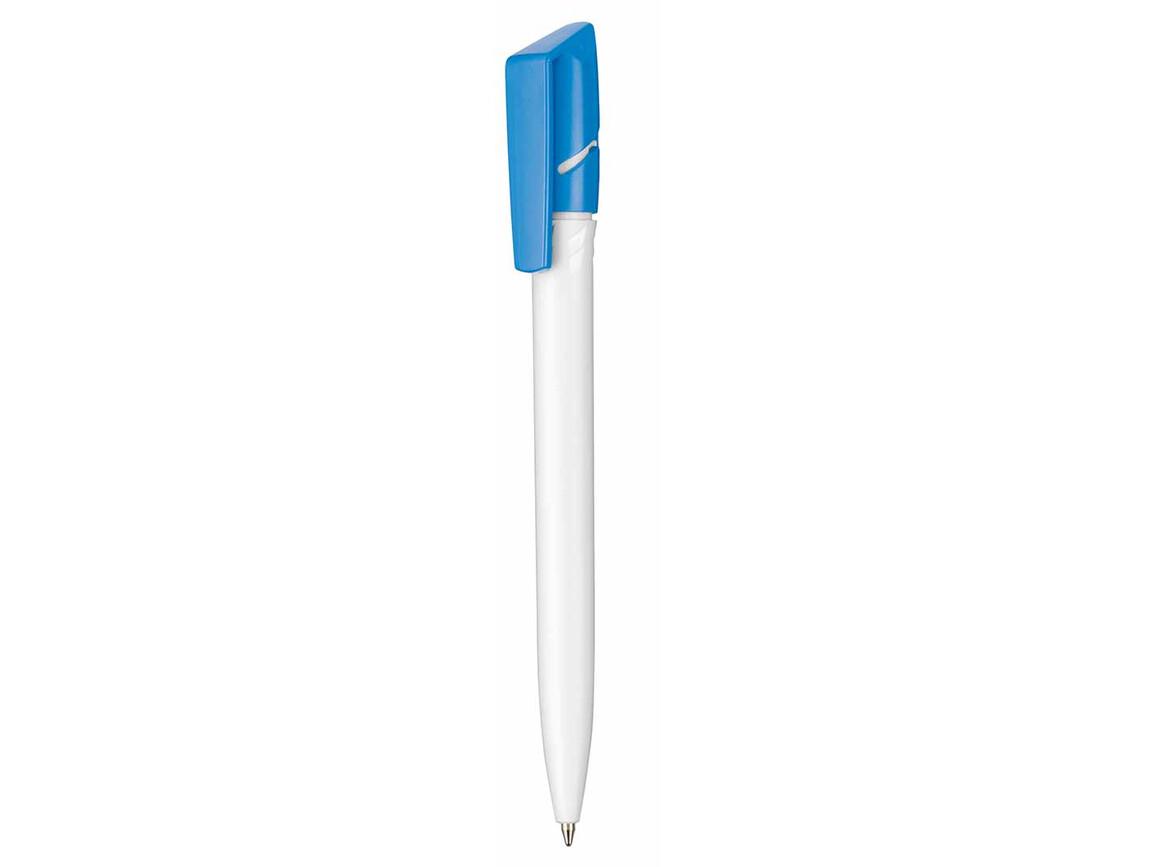 Kugelschreiber TWISTER–weiss/himmel-blau bedrucken, Art.-Nr. 00040_0101_1301