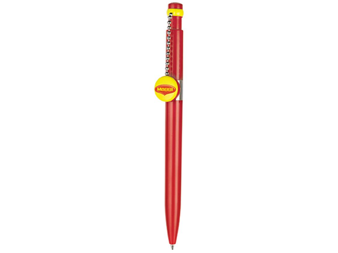 Kugelschreiber PIN PEN–signal-rot bedrucken, Art.-Nr. 00060_0601