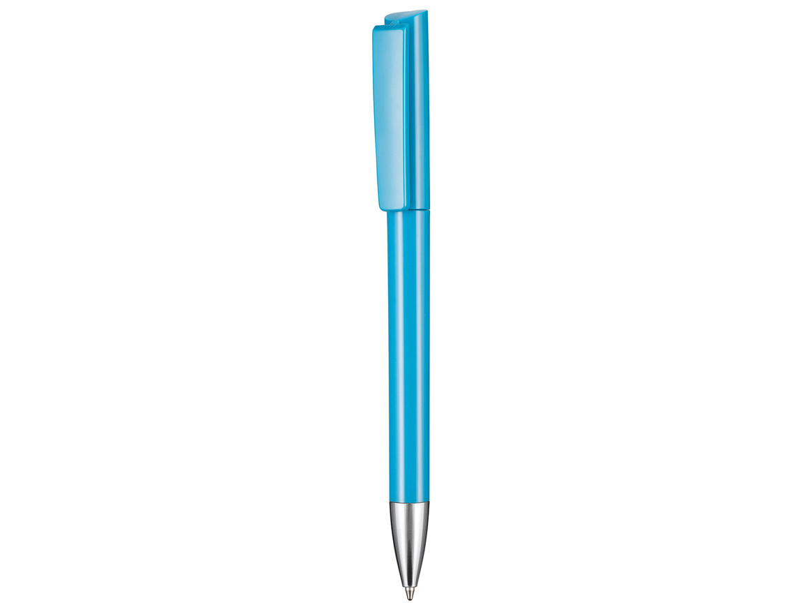 Kugelschreiber GLORY–neon-blau bedrucken, Art.-Nr. 00123_1390