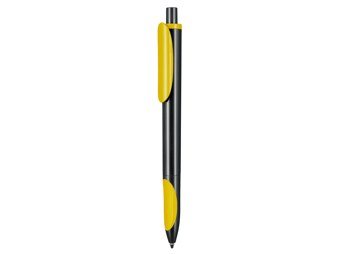 Kugelschreiber ELLIPS–schwarz/zitronen-gelb bedrucken, Art.-Nr. 07200_1500_0200