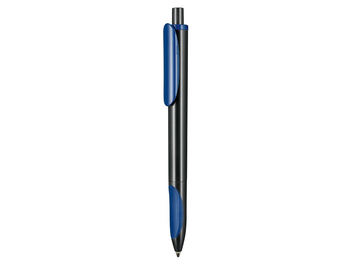 Kugelschreiber ELLIPS–schwarz/azur-blau bedrucken, Art.-Nr. 07200_1500_1300