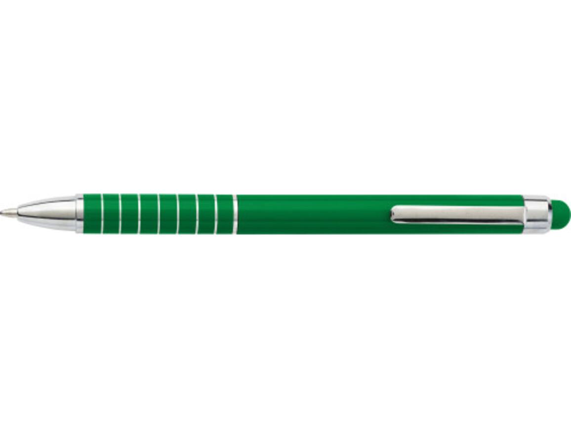 Kugelschreiber 'Speedtouch' aus Metall – Grün bedrucken, Art.-Nr. 004999999_0647