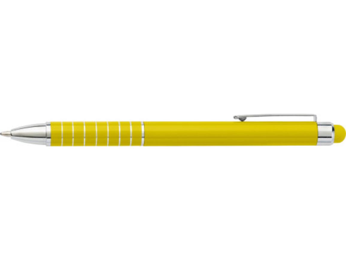 Kugelschreiber 'Speedtouch' aus Metall – Gelb bedrucken, Art.-Nr. 006999999_0647