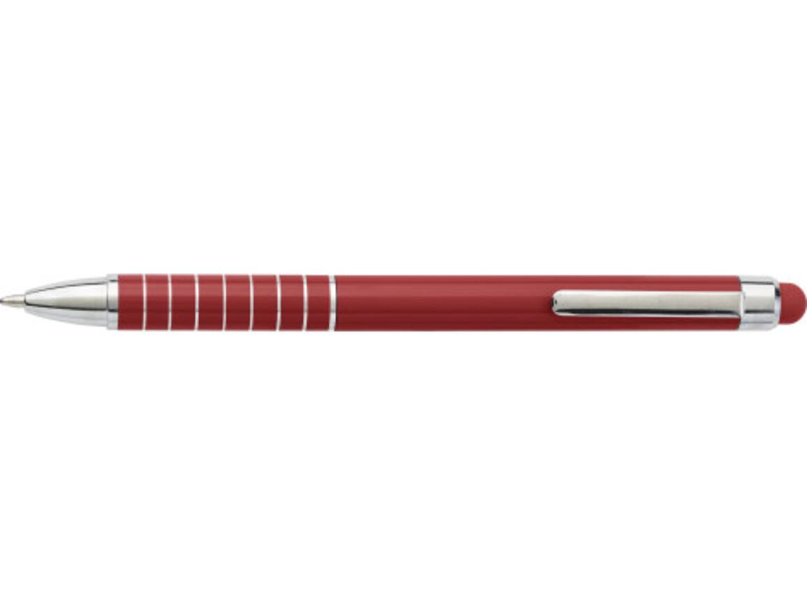 Kugelschreiber 'Speedtouch' aus Metall – Rot bedrucken, Art.-Nr. 008999999_0647