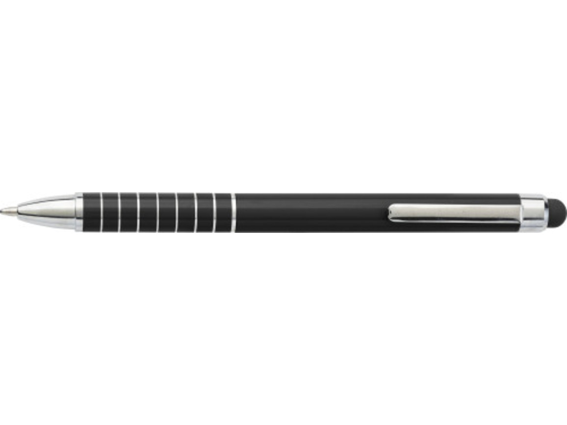 Kugelschreiber 'Speedtouch' aus Metall – Schwarz bedrucken, Art.-Nr. 001999999_0647